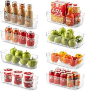 8 Refrigerator Organizer Bins