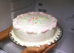 Cake in Freezer