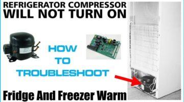 Refrigerator's compressor not working