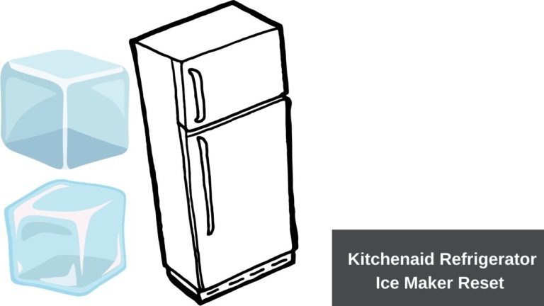 kitchenaid refrigerator ice maker reset